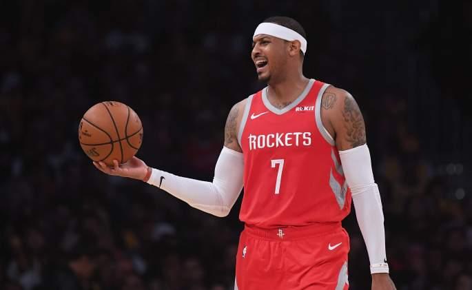 Houston Rockets Forward Carmelo Anthony