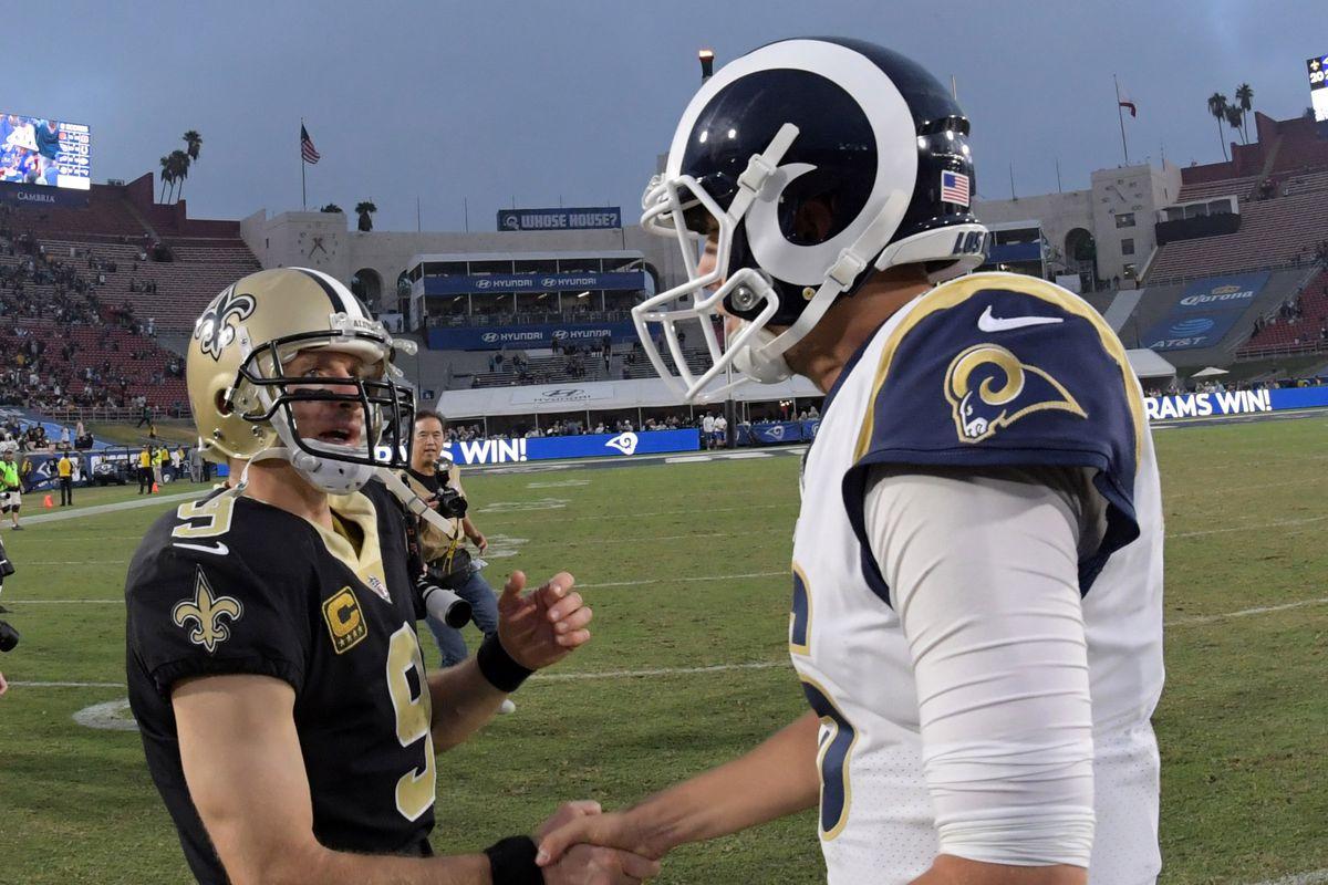 Los Angeles Rams vs New Orleans Saints week 9