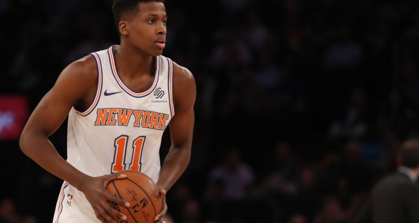 New York Knick's guard Frank Ntilikina