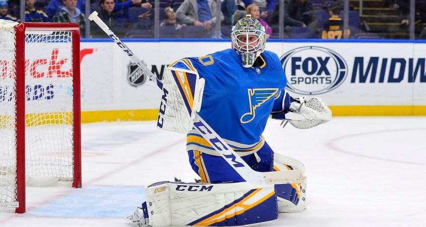St. Louis Blues Jordan Binnington NHL star of the week